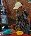Girl preparing food in the vicinity of the Basilica of Chiquinquira.jpg