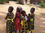 Girls of a small berom village in Jos City.JPG