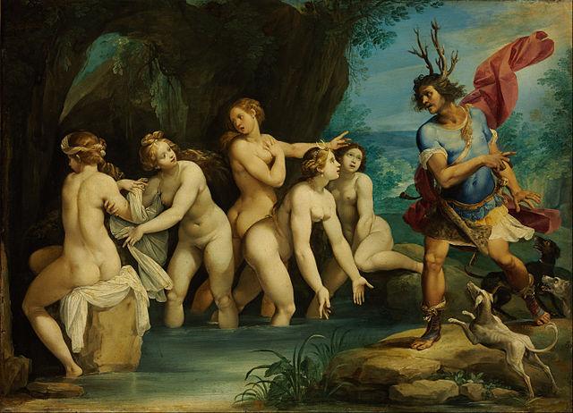"""Diana et Actaeon"", oeuvre de Giuseppe Cesari (1568–1640)"