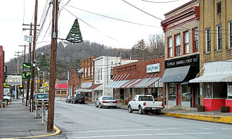 Glenville, West Virginia - Main Street in Glenville in 2006