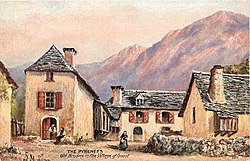 """Old houses in the village of Goust"" (early 1900s postcard)"