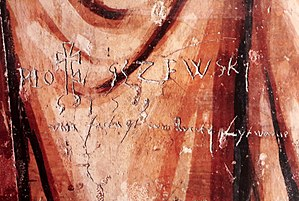Graffiti - 1569 scratched graffiti in the Holy Trinity Chapel in Lublin, commemorating Union of Lublin