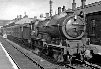 GER Class S69 - B12/3 No. 61580 at Grantham 28 March 1956.
