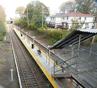 Grasmere (Staten Island Railway station) - Temporary stair and platform, October 2012