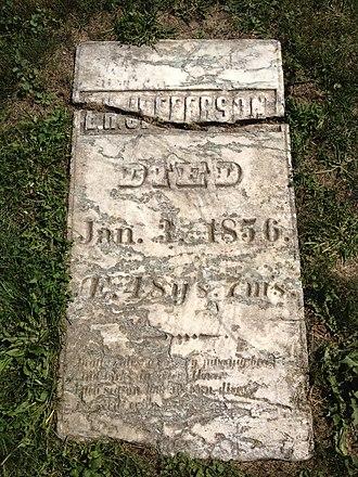 Eston Hemings - The gravesite of Eston Hemings Jefferson in Madison, Wisconsin.