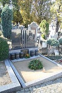 Grave of Vladimír Krajina and Šilhan family at Starý hřbitov in Třebíč, Třebíč District.jpg