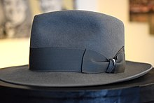 f70420abdcf Gray fedora hat made by hand with remarkable loop