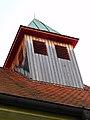 Graz-Eggenberg. Evangelische Pfarrkirche Christus allein, Dachreiter 01 (erbaut 1931-32).jpg