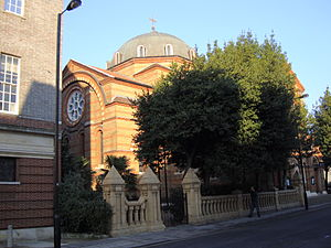Greeks in the United Kingdom - St Sophia's Cathedral, London, the main Greek Orthodox church in the United Kingdom
