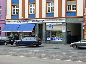 Frankfurter Rindswurst - Gref-Völsing's butcher shop, home of the original Frankfurt beef sausage