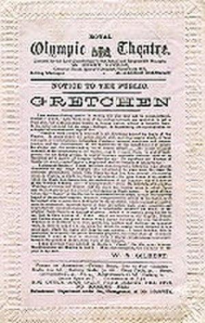 Gretchen (play) - Original 1879 programme