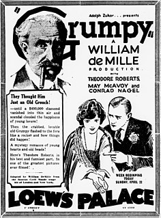 <i>Grumpy</i> (1923 film) 1923 film by William C. deMille