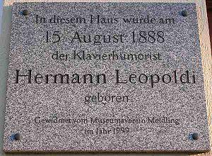 Hermann Leopoldi - Hermann Leopoldi memorial (Vienna, Schönbrunner Straße 219)