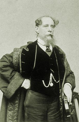 Диккенс на фотографии Джеремайи Гёрни во время нью-йоркской поездки 1867—1868гг.