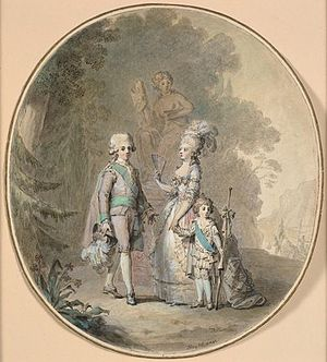1785 in Sweden - Gustavs III of Sweden family