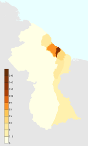 Guyana population density