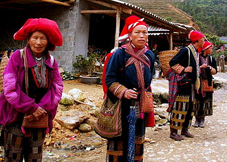 Hmong people - Red Dao in Vietnam.