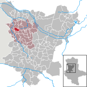 Location of Hödingen  within the Börde district