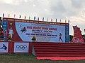Hội trường giải chạy cùng nhà vô địch Seagame Phạm Thị Huệ trước giờ khai mạc, Đầm Hà, Quảng Ninh.jpg