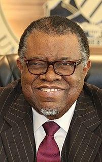 Hage Geingob President of Namibia