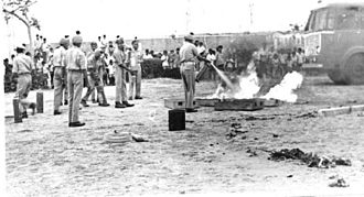 Home Guard (India) - Home Guards Demonstration-Fire fighting-1970