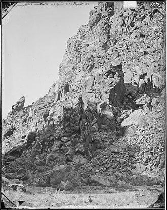 Black Mountains (Utah) - Image: HIEROGLYPHIC PASS OR CANYON OPPOSITE PAROWAN, UTAH NARA 524339