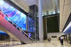 HKIA Midfield Concourse Peoplemover Platform 201604