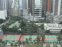 HK CWB HKCL view Tai Hang 02 Causeway Bay Sports Ground Queen's College campus.JPG