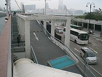 HK Central Old Star Ferry Piers Wilson Parking Roof Shuttle Bus.JPG