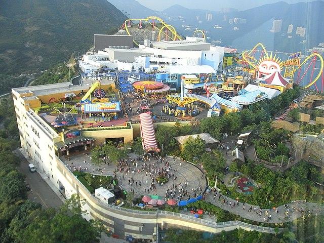 File:HK Ocean Park Tower view Polar Adventure Summit Plaza Whirly Bird ...