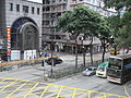 HK TST 漆咸道南 footbridge view Chatham Road South 03 Trees.JPG
