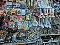 HK Wan Chai Road night Kitchen tools on sale Jan-2014 Hing Kee shop.JPG