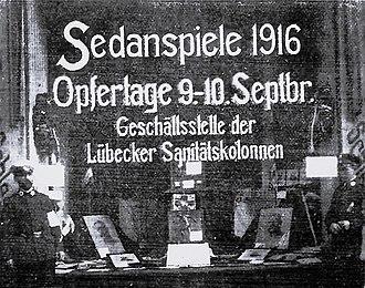 Sedantag - The exhibited trophies of Sedan Festival (Lübeck)