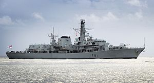 Type 23 frigate - Image: HMS Sutherland (F81) Mo D