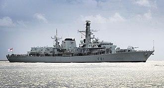 Type 23 frigate - Image: HMS Sutherland (F81) Mo D