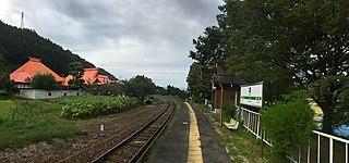 Hachisu Station Railway station in Iiyama, Nagano Prefecture, Japan