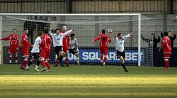 Steve Halford scores for Hyde in 2011