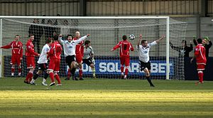 Hyde United F.C. - Image: Halford scores for hyde