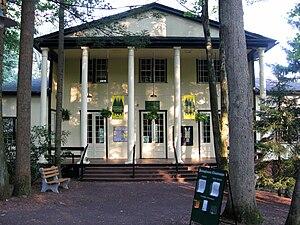 Mount Gretna, Pennsylvania - The Hall of Philosophy, part of the Pennsylvania Chautauqua, on Gettysburg Road