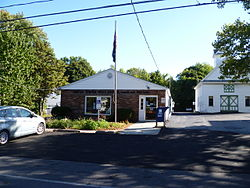 The post office for Hamlin, NY, located on Railroad Avenue