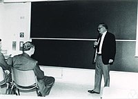 Hans Julius Zassenhaus at the blackboard.jpg