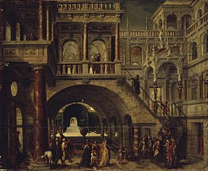 Architectural painting - Architectural landscape by Hans Vredeman de Vries, now in the Hermitage Museum