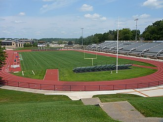 Hectare - Hansen Field at Western Illinois University in Macomb, Illinois incorporates an all-weather running track.