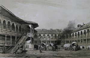 Manuc's Inn - The yard of Manuc's Inn in 1841