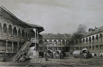 Manuc Bei - The yard of Manuc's Inn in 1841
