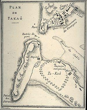1893年的打狗港地圖