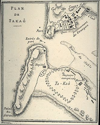 History of Kaohsiung - The port of Ta-kau, 1893