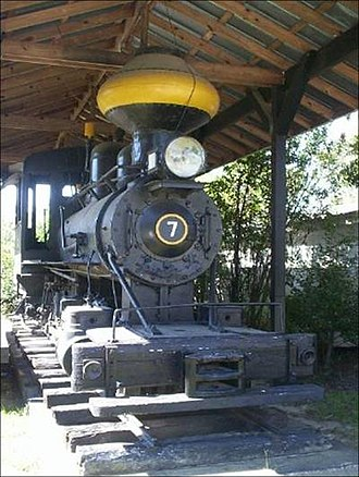 Hardeeville, South Carolina - Argent Lumber Company locomotive on display