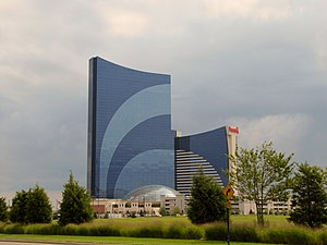Harrah's Atlantic City - View of Harrah's Resort from Borgata.