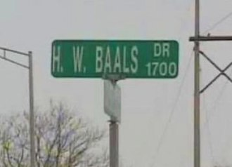 Harry Baals - The new Harry W. Baals Dr. street sign